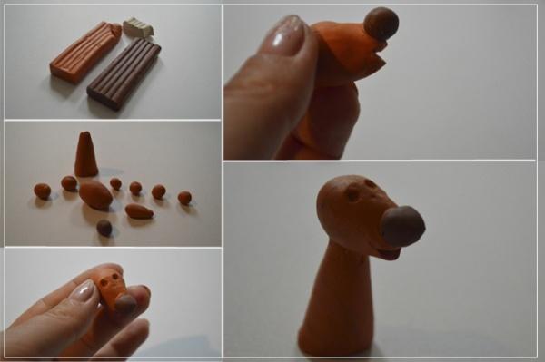 Мастер-класс по лепке собаки из пластилина
