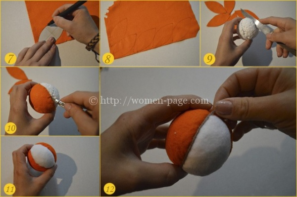 Елочная игрушка собака из пенопластового шарика